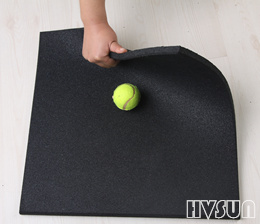 Fitness shockproof rubber tiles HVSUN-201