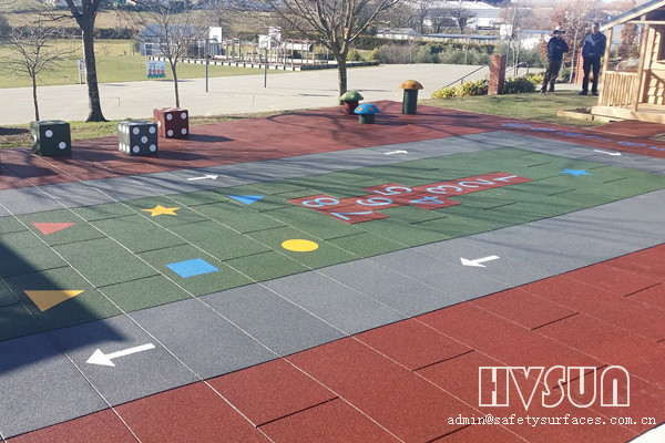 Outdoor playground safety rubber flooring mats for Outdoor safety flooring