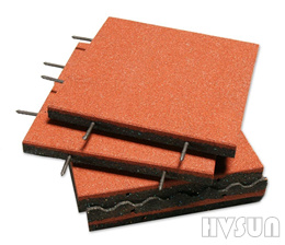 Interlock playground rubber tile HVSUN-311