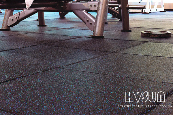 Fitness shockproof rubber tiles HVSUN-211