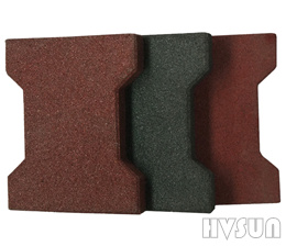 Interlock bone shape rubber paver HVSUN-501