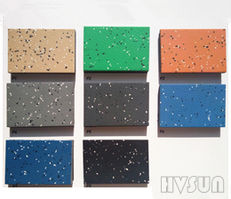 Natural rubber commercial stone surface flooring tiles HVSUN-801100% Natural Rubber Floor Carpet